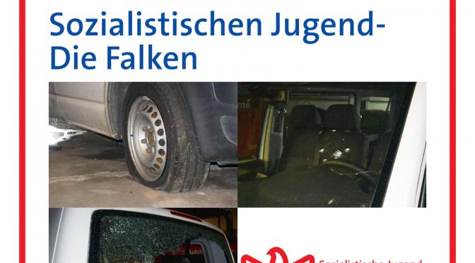 Nazis zerstören VW Bus der Falken Braunschweig